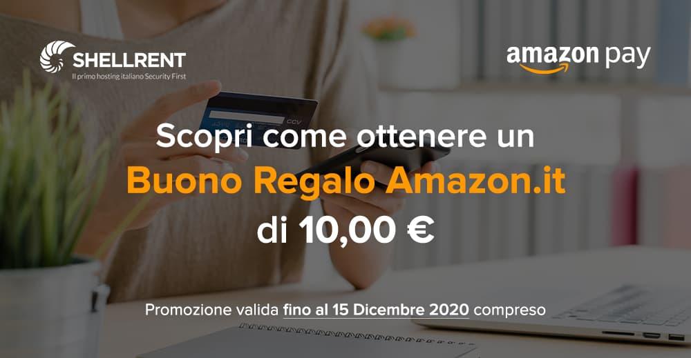 Ottieni un buono Amazon da 10 euro