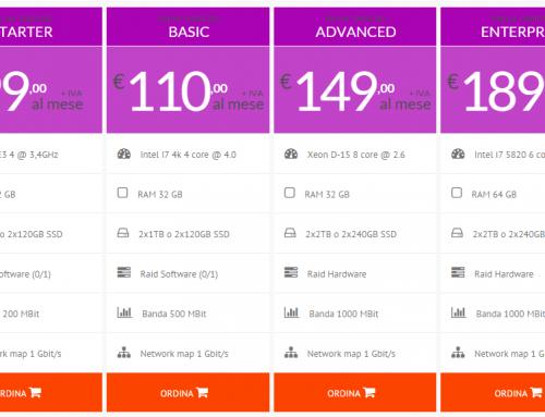 Nuovi server Dedicati: più performance, più sicurezza