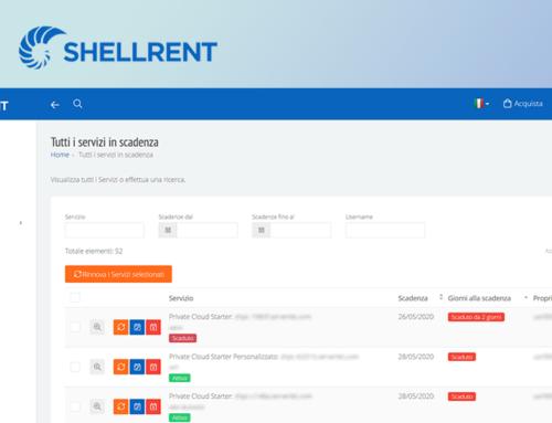 Nuove tempistiche di rinnovo automatico dei servizi Shellrent