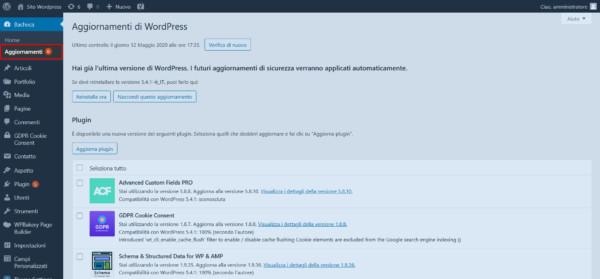 Anteprima pagina generale wordpress