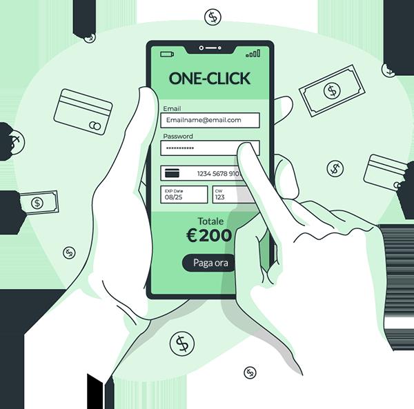 Shellrent Metodi di pagamento One-Click