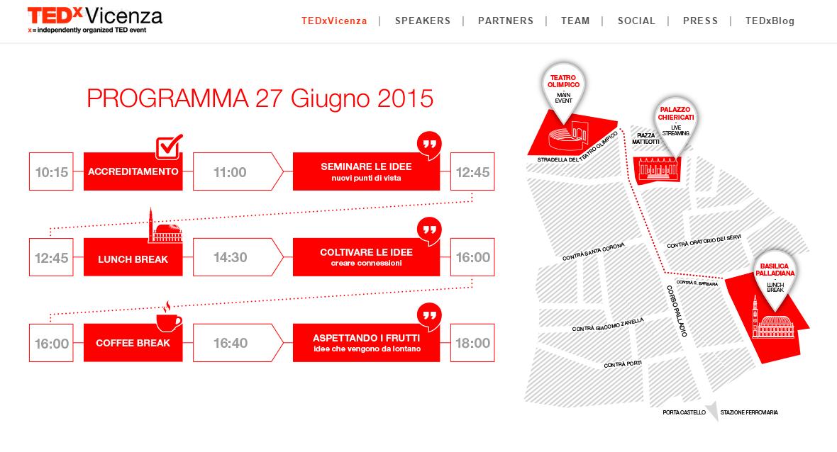 TedxVicenza program