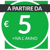 a partire da € 5 + iva