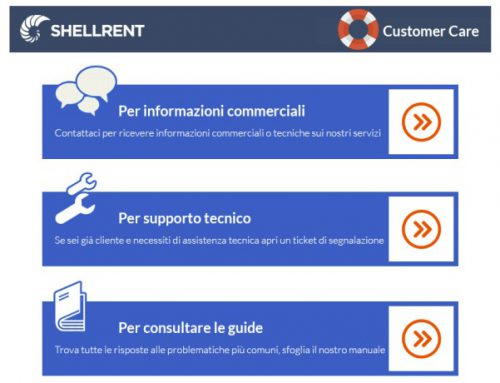 La nuova Customer Care Tab Shellrent su Facebook