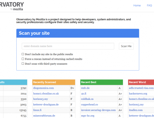 Verifica la sicurezza del tuo sito con Mozilla Observatory